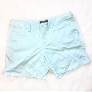 Eddie Bauer sz 10 women's mint green chino shorts